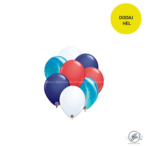 Bukiet balonowy Duży marynarz 8 szt