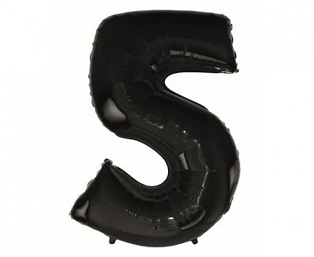 "Balon foliowy B&C ""Cyfra 5"" czarna, 92 cm"
