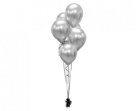 "Balony Beauty&Charm, platynowe srebrne 12""/ 7 szt."