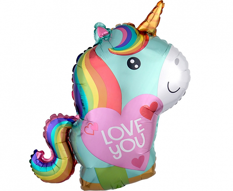 "Balon foliowy ""Unicorn Love"" 43 x 53cm"