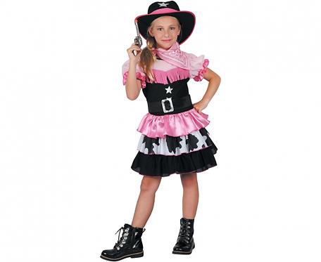Strój dla dzieci Różowa Kowbojka, rozm. 120/130 cm