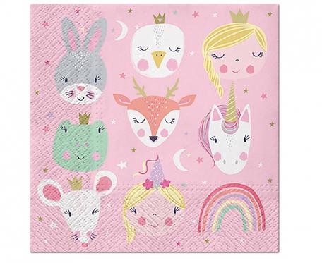 Serwetki papierowe PAW Magical Friends, 33x33 cm, 20 szt.