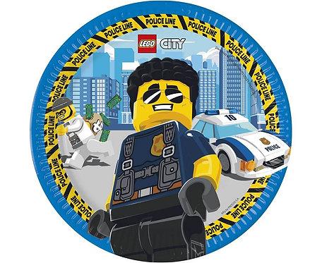 Talerzyki papierowe Lego City, 23 cm, 8 szt.
