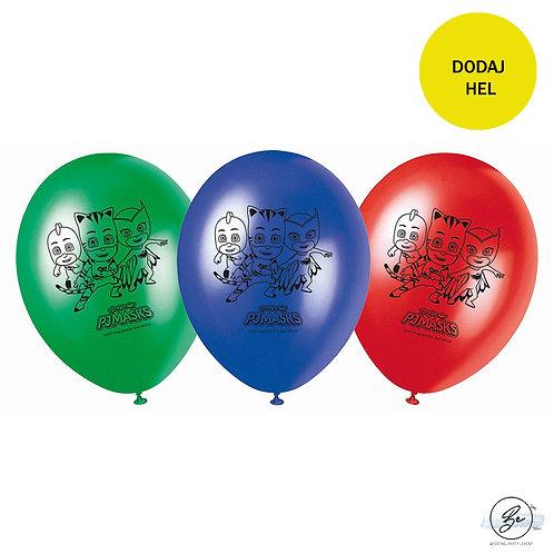 """Balony 11"""" z nadr. """"Pj Masks"""", 8 szt."""