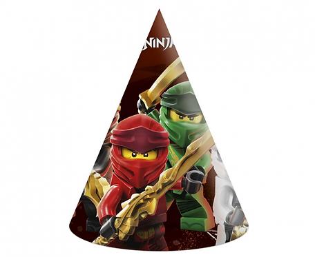 Czapeczki papierowe Lego Ninjago, 6 szt.