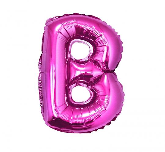 """Balon foliowy """"Litera B"""", różowa, 35 cm"""