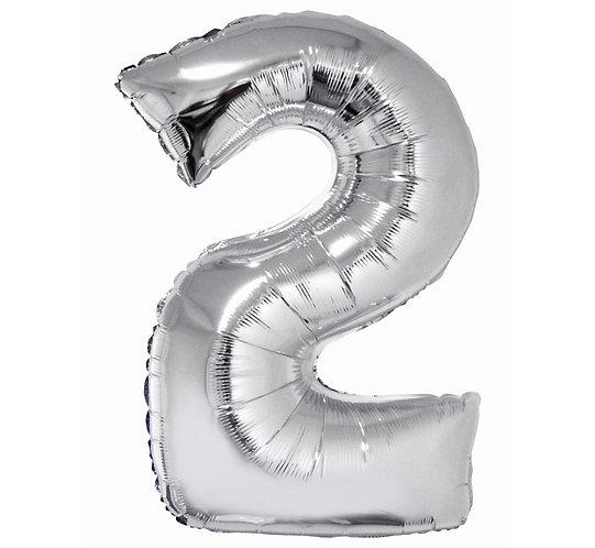 balon cyfra 2,balony cyferki wrocław, sklep z balonami wrocław