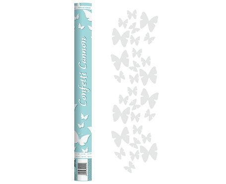 """Konfetti pneumatyczne """"Białe motylki"""" / 60 cm"""