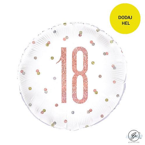 Balon foliowy UQ 18 cali Prism z nadr. 18 różowo-złoty