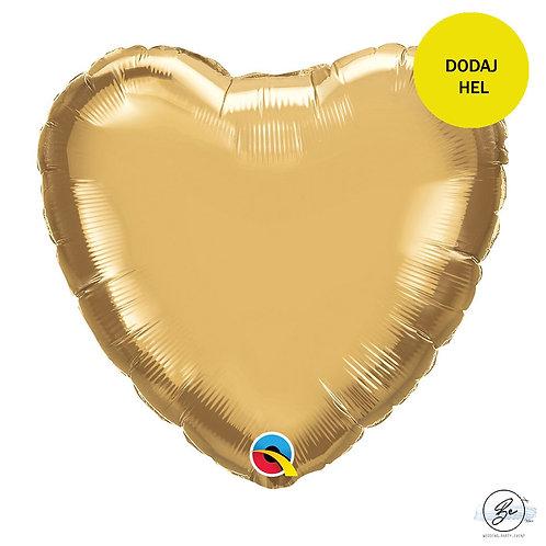 Balon foliowy 18 cali QL HRT chrom złoty