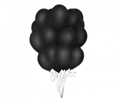 "Balony Beauty&Charm, pastelowe czarne 12""/ 50 szt."