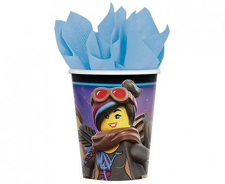 Kubeczki papierowe Lego Movie 2, 266 ml, 8 szt.
