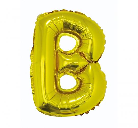 """Balon foliowy """"Litera B"""", złota, 35 cm"""