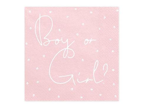 Serwetki Boy or Girl. 33x33cm