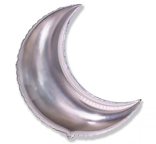 Balon foliowy FX Księżyc srebrny