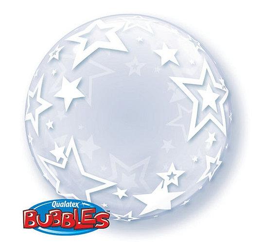 "Balon foliowy 24"" QL Bubble Deco ""Gwiazdy"""