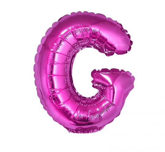 """Balon foliowy """"Litera G"""", różowa, 35 cm"""