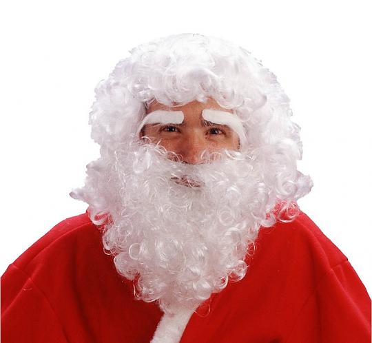 """Peruka """"Mikołaj z brodą i brwiami"""""""