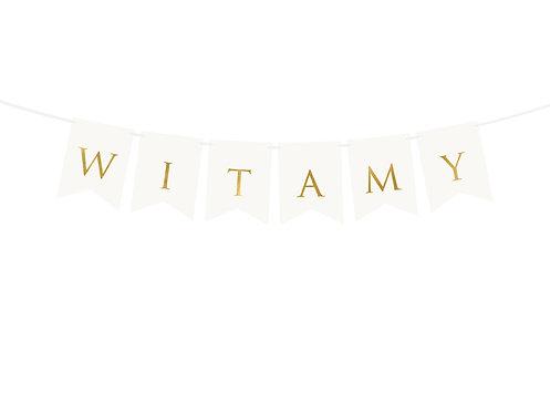 Baner Witamy, biały, 15 x 80 cm