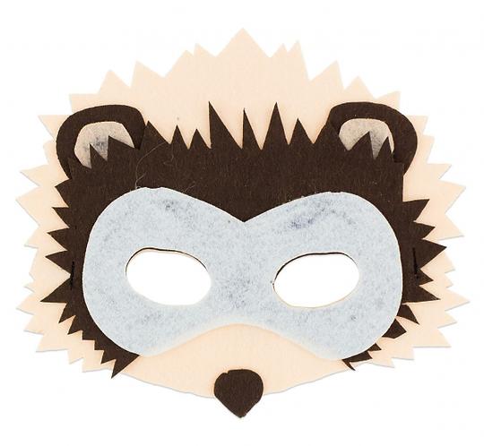 """Maska filcowa """"Jeżyk"""", rozm. 19 x 15.5 cm"""