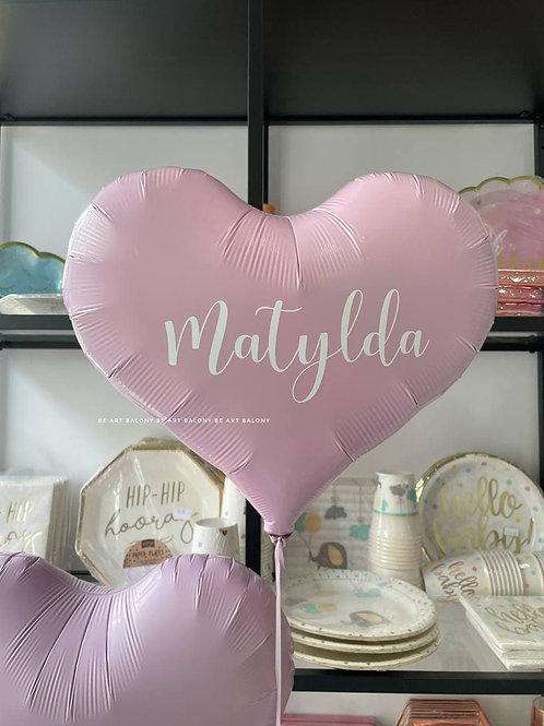 """Balon serce Jelly 14"""" napełniony helem - różne kolory"""