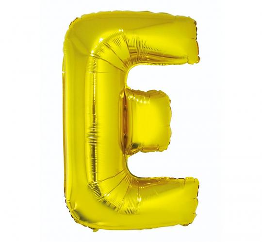 """Balon foliowy """"Litera E"""", złota, 89 cm"""