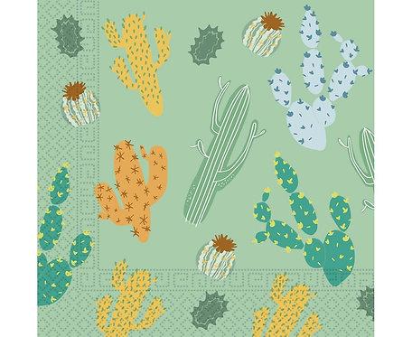 Serwetki papierowe Cacti, rozm. 33x33 cm, 20 szt.