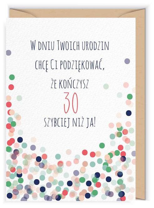 Kartka okolicznościowa - Cudowianki -na 30 ste urodziny