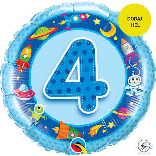 """Balon foliowy 18"""" QL CIR """"4 z obrazkami, niebieski"""""""