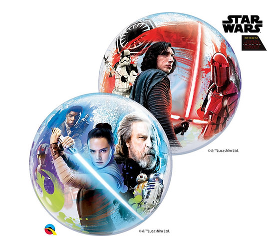 """Balon foliowy 22"""" QL Bubble """"Star Wars the Last Jedi"""