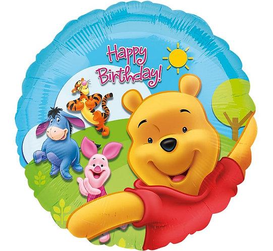 "Balon foliowy 18"" CIR - ""Pooh and Friends Sunny BDAY"""