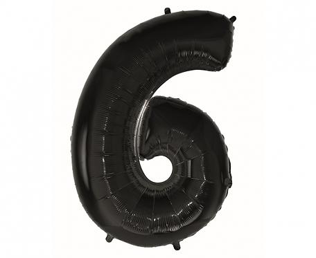 "Balon foliowy B&C ""Cyfra 6"" czarna, 92 cm"