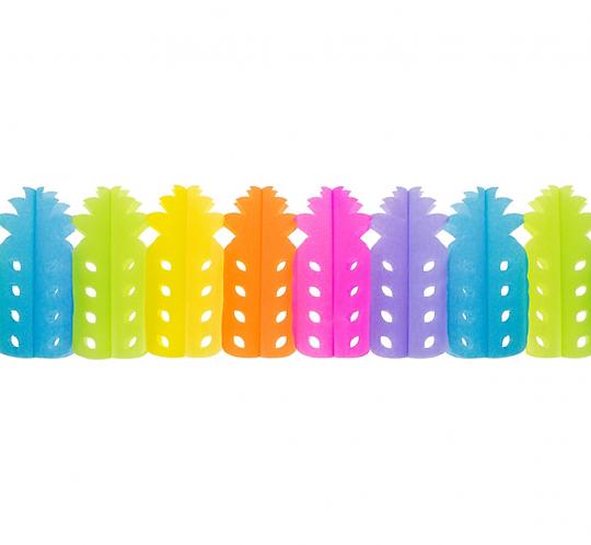 """Girlanda papierowa """"Kolorowe Ananasy"""", 360x11.5x20cm, 1 szt"""