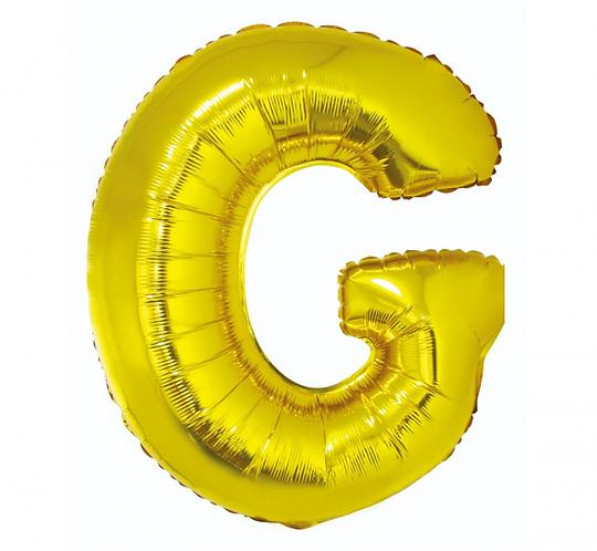 """Balon foliowy """"Litera G"""", złota, 89 cm"""