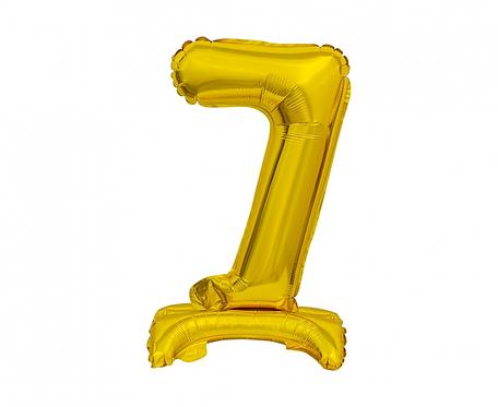 Balon foliowy B&C Cyfra stojąca 7, złota, 38 cm