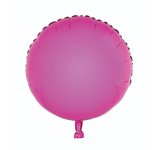 """Balon foliowy """"Okrągły"""", różowy, 18"""""""