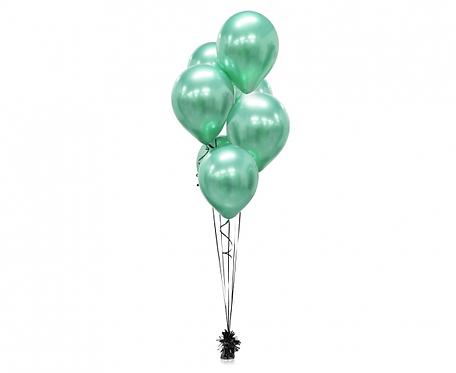 """Balony Beauty&Charm, platynowe zielone 12""""/ 7 szt."""