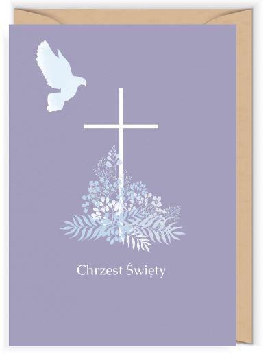 Kartka okolicznościowa - Cudowianki -Niebieski gołąbek
