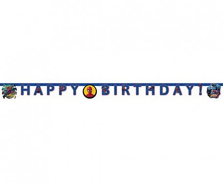 """Banner """"Spiderman Team Up - Happy Birthday"""""""