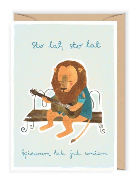 Kartka okolicznościowa - Cudowianki -Sto lat, sto lat, śpiewam tak jak umiem