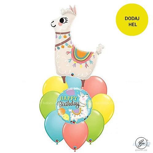 Bukiet balonowy Birthday Lama 10 szt