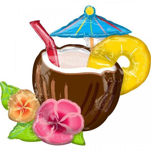"Balon Anagram 35"" Supershape Coconut Pina Colada"