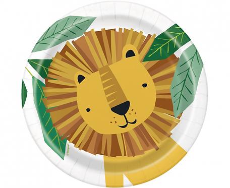 Talerzyki papierowe Animal Safari, 18 cm, 8 szt.