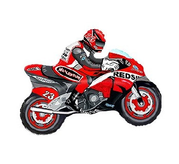"""Balon foliowy 24"""" FX - """"Motor"""" (czerwony)"""