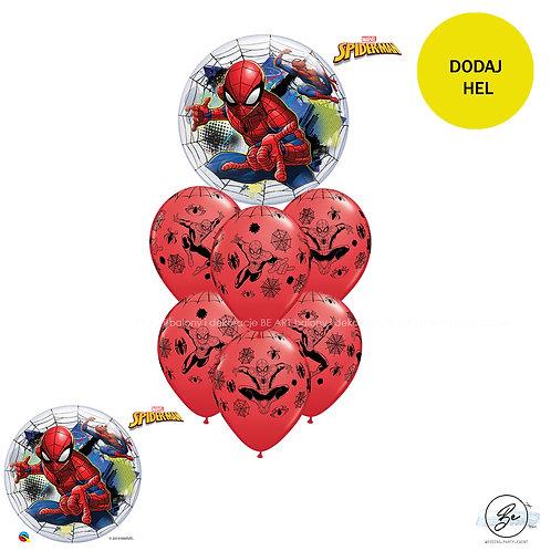 Bukiet balonowy Spider Man - 7 szt