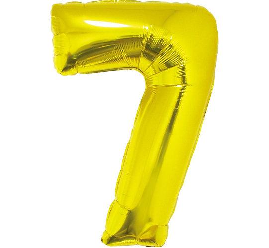 """Balon foliowy """"Cyfra 7"""", złota, 92 cm"""