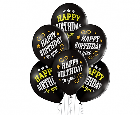 Bukiet  Happy Birthday , 6 szt.