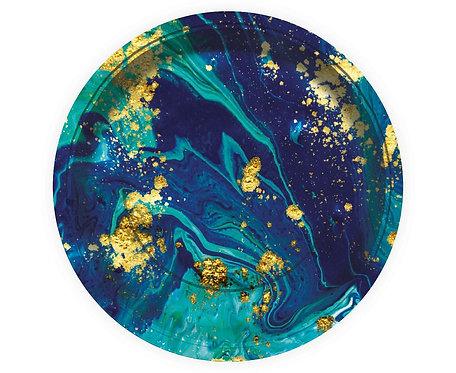 """Talerzyki papierowe """"Midnight Blue"""", 23 cm/ 6 szt."""