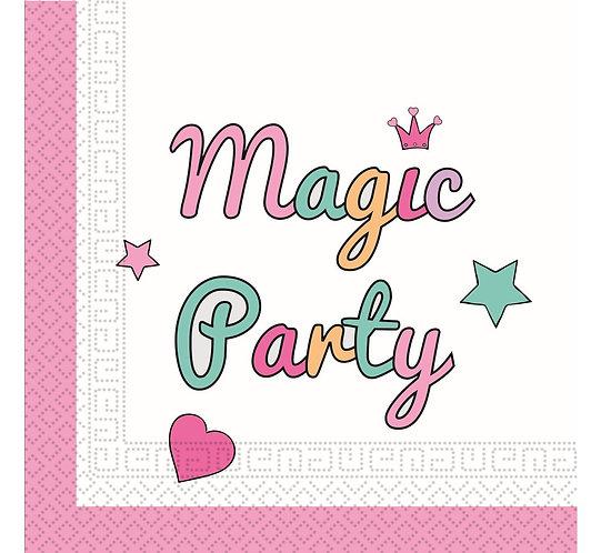 """Serwetki papierowe """"Magic Party"""", rozm. 33 x 33 cm, 20 szt."""