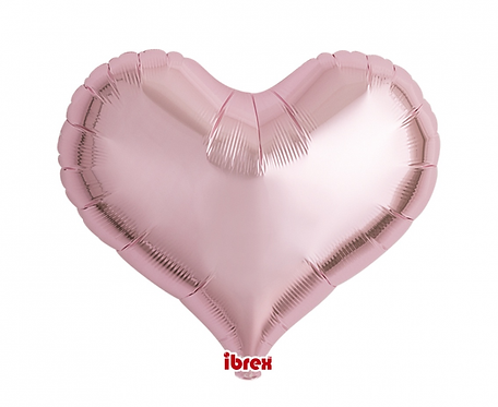 "Balon Ibrex, serce Jelly 18"", Metallic Light Pink"